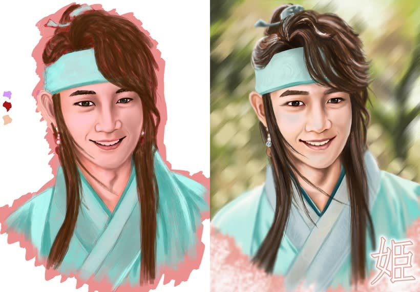 Choi Minho's drawing and 3D modeling from Hwarang:The Beginning 1