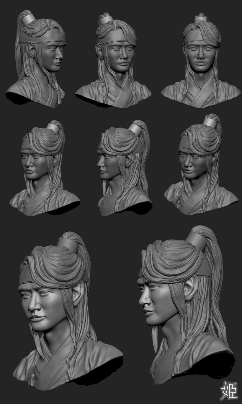 Choi Minho's drawing and 3D modeling from Hwarang:The Beginning 5