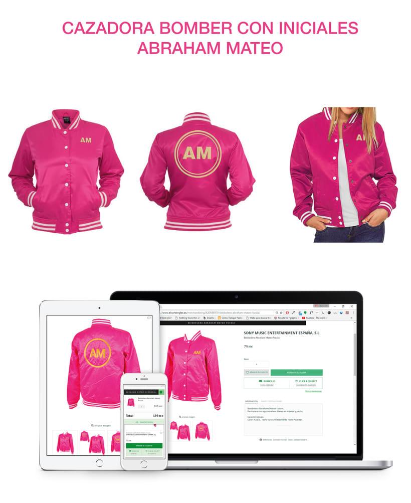 Merchandising para Abraham Mateo 5