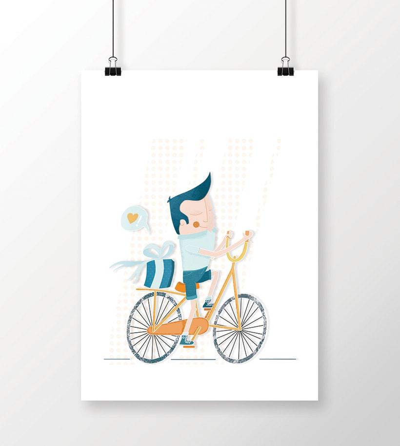 Amor sobre ruedas - ilustración -1