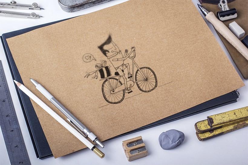 Amor sobre ruedas - ilustración 1