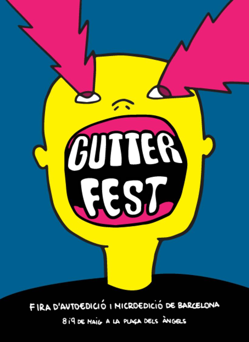 Flyer para festival de autoedición + stickers -1
