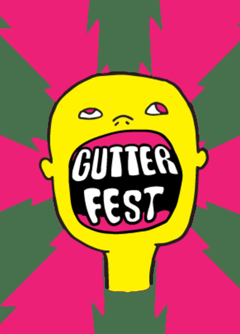 Flyer para festival de autoedición + stickers 0