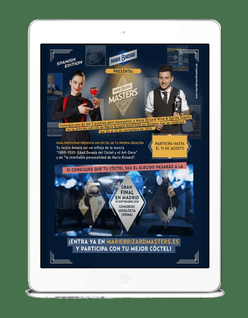 Material corporativo para el concurso Marie Brizard Masters  1