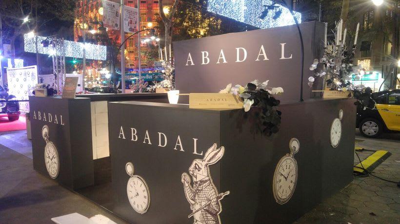creación stand shopping nigth barcelona 2016 , para Abadal  -1