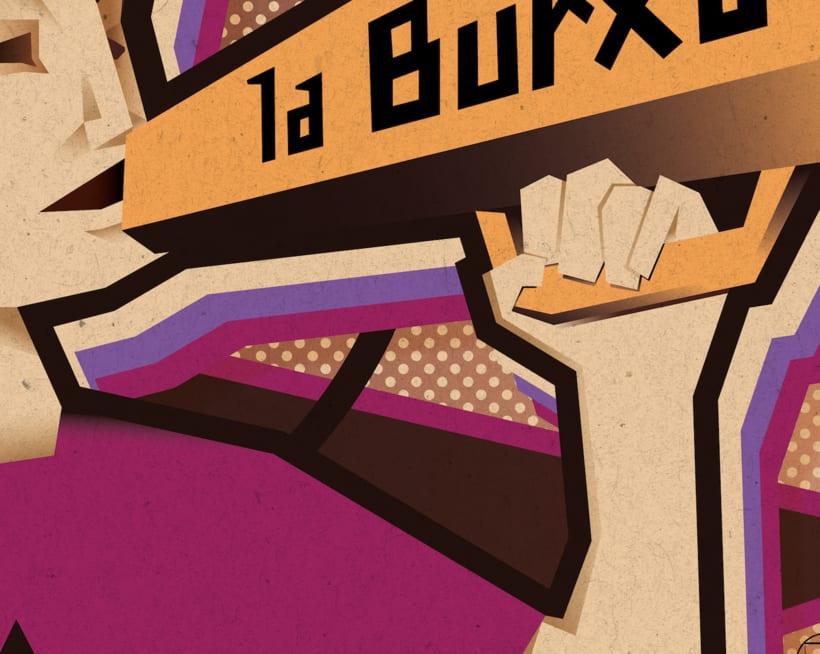 """Ilustración para periódico cultural-reivindicativo """"La Burxa"""", Barcelona. 5"""