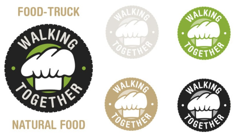 Walking Together. Food-Truck. -1