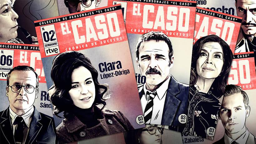 El Caso. Infografía de personajes  y cómic avances 0