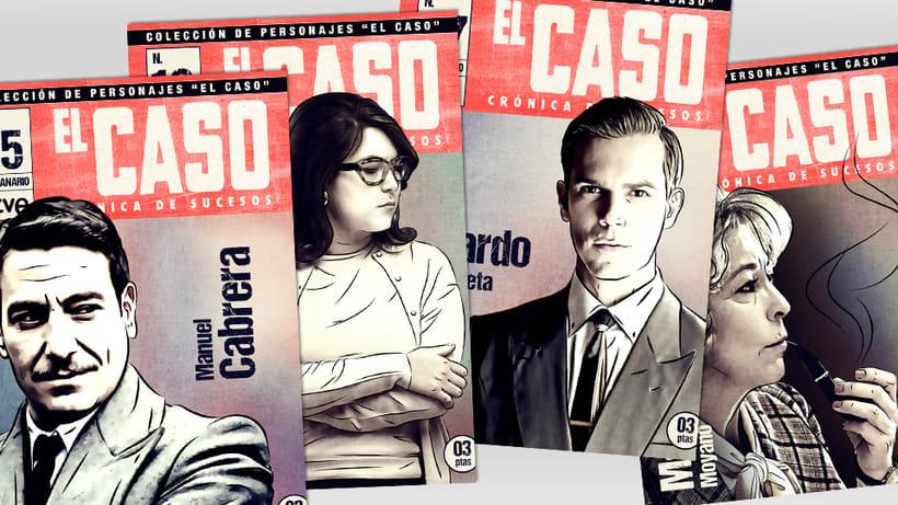 El Caso. Infografía de personajes  y cómic avances 4
