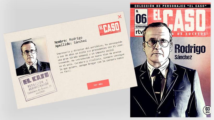 El Caso. Infografía de personajes  y cómic avances 5