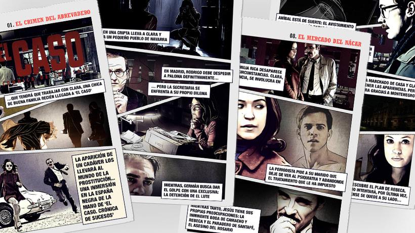 El Caso. Infografía de personajes  y cómic avances 6