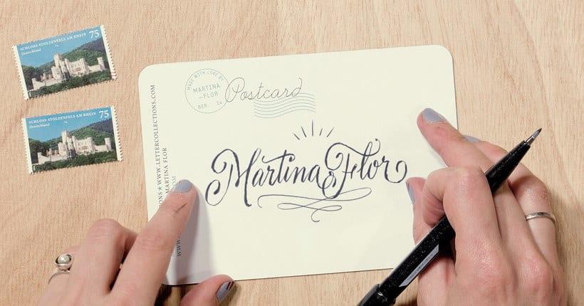 Martina Flor desvela los secretos dorados del lettering 25