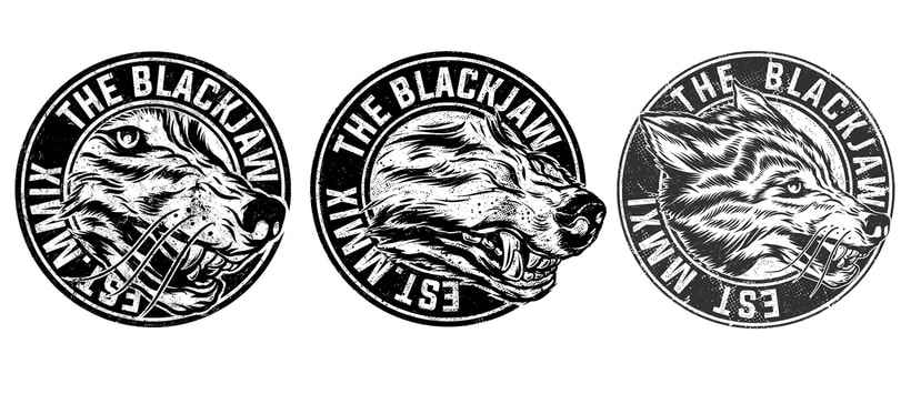 The Blackjaw - Men of Prey (Album artwork, diseño de logo y merch ) 4