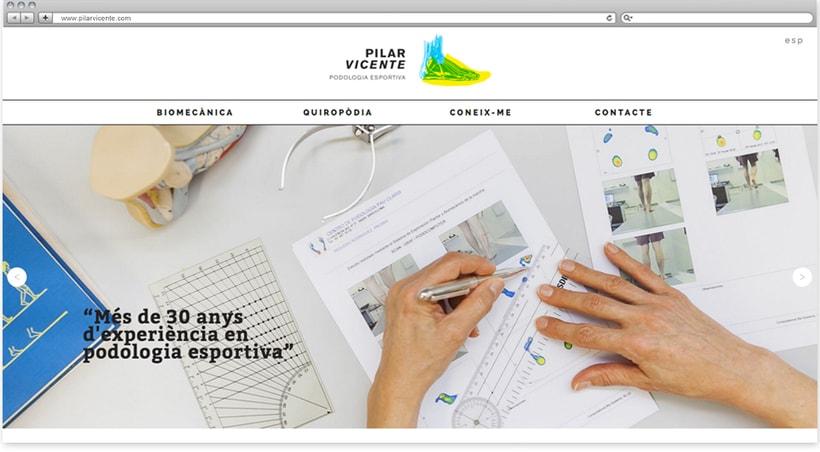 Web para la podóloga Pilar Vicente 0