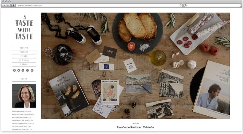 Blog personal para la gastrónoma Rosina Ramos 0