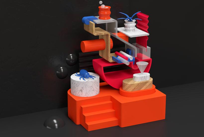 Mi Proyecto del curso: Visualizaciones en 3D con Cinema 4D, Illustrator y Photoshop 4