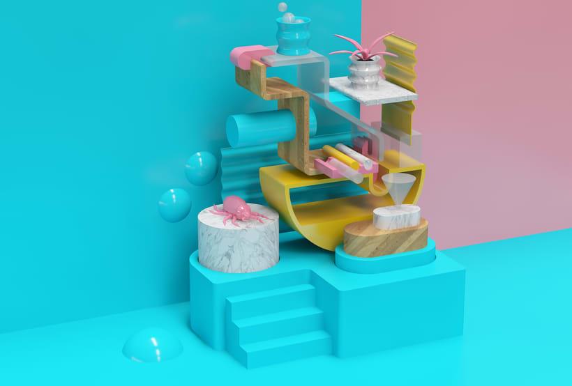 Mi Proyecto del curso: Visualizaciones en 3D con Cinema 4D, Illustrator y Photoshop 5