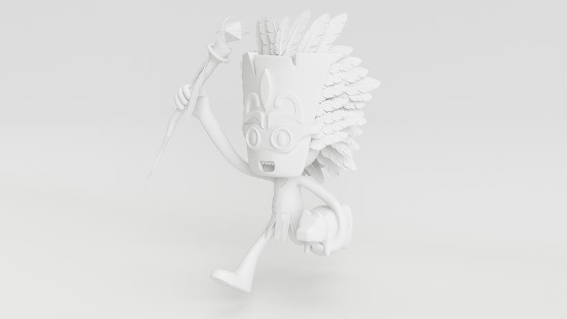 Tiki Man Diseño de personajes en Cinema 4D 0