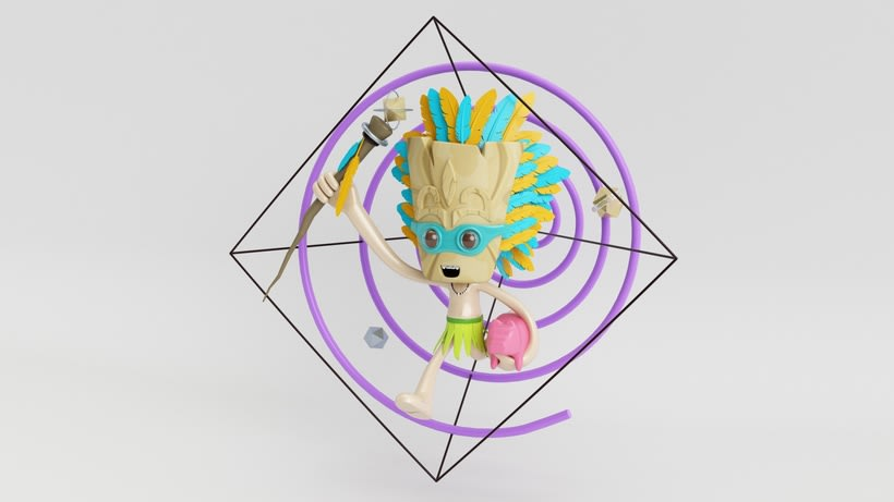 Tiki Man Diseño de personajes en Cinema 4D 2