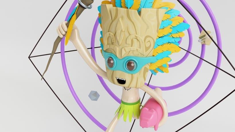 Tiki Man Diseño de personajes en Cinema 4D 3