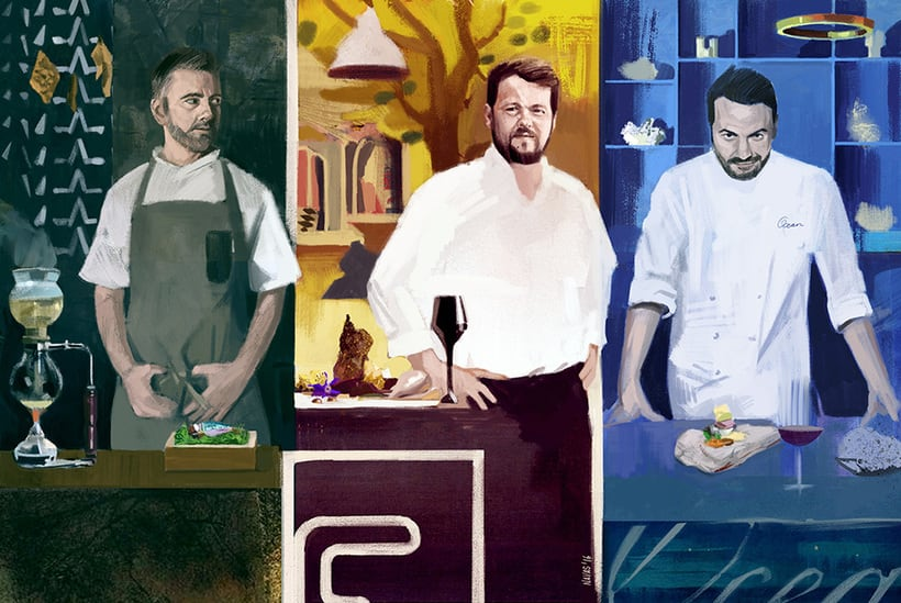 Ilustraciones para Food Republic 0
