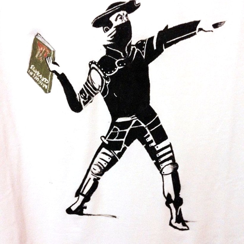 Pintura a mano en tela: Camisetas y bolsas. 2