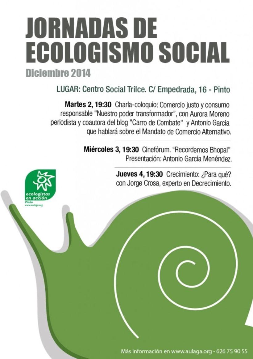 Diseño de Cartelería y Fotografía para Ecologistas en Acción 1