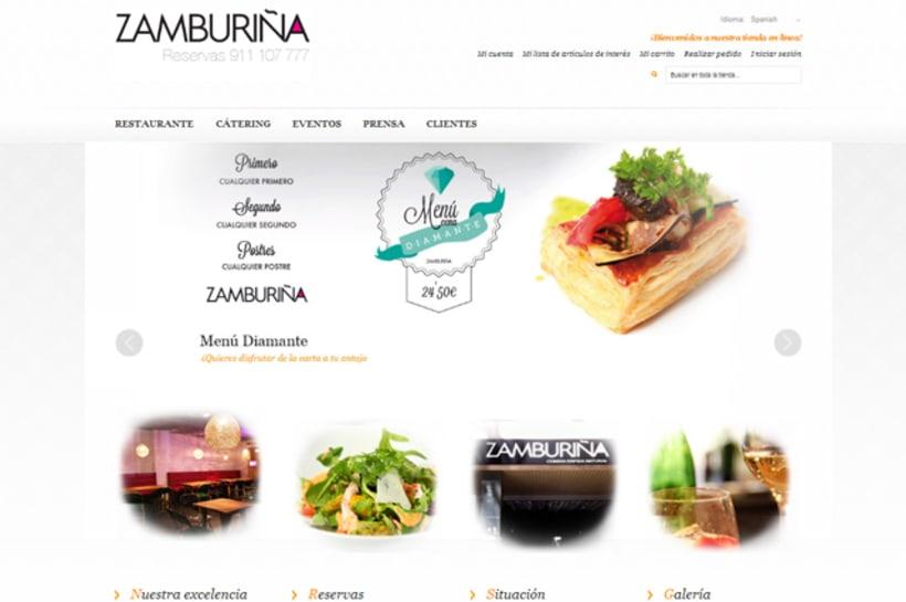Publicidad y Tienda Virtual de Restaurante Zamburiña 0