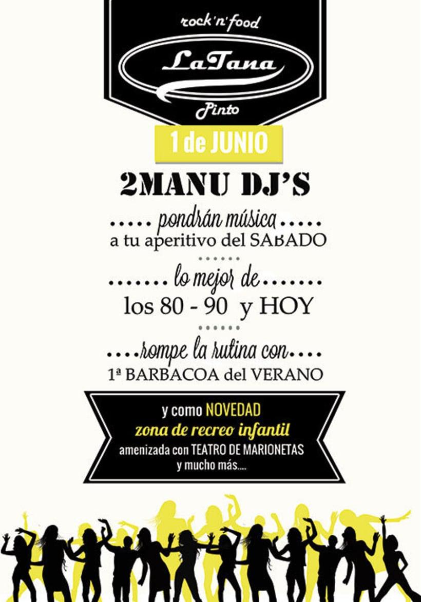 Publicidad y Tienda Virtual de Restaurante La Tana -1
