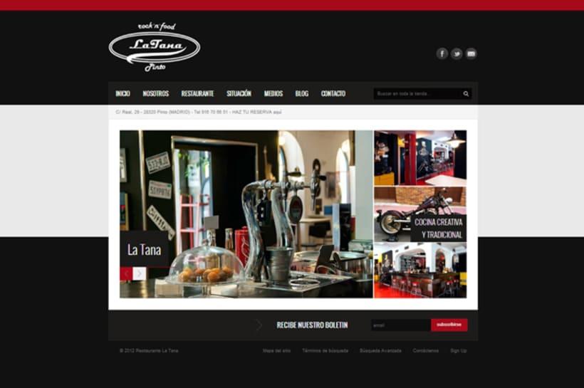 Publicidad y Tienda Virtual de Restaurante La Tana 1
