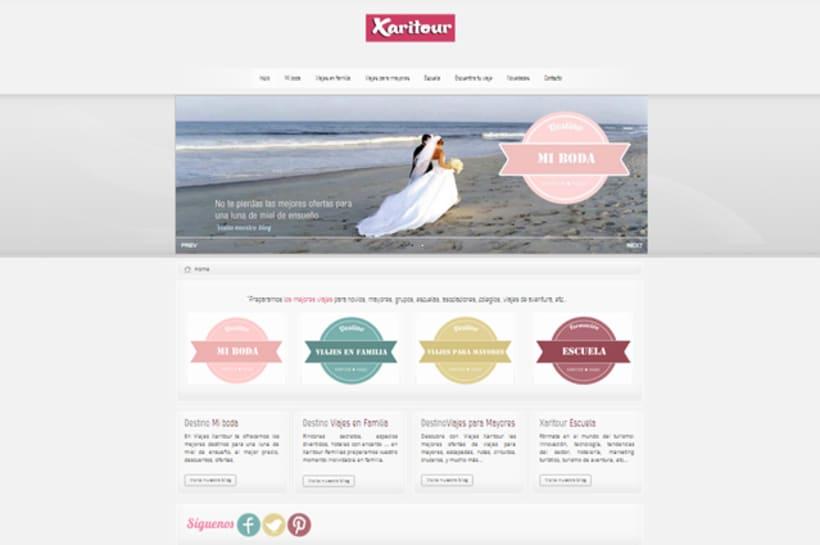 Publicidad y Página Web, imagen corporativa, y posicionamiento de  Agencia de Viajes Xaritour.  5