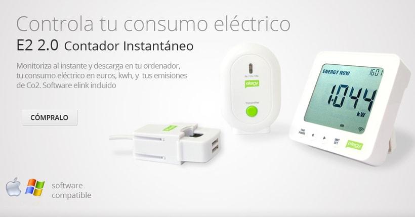 Publicidad, Imagen corporativa, posicionamiento, desarrollo tiendas virtuales Efergy Store (Enovae Medioambiente) 1