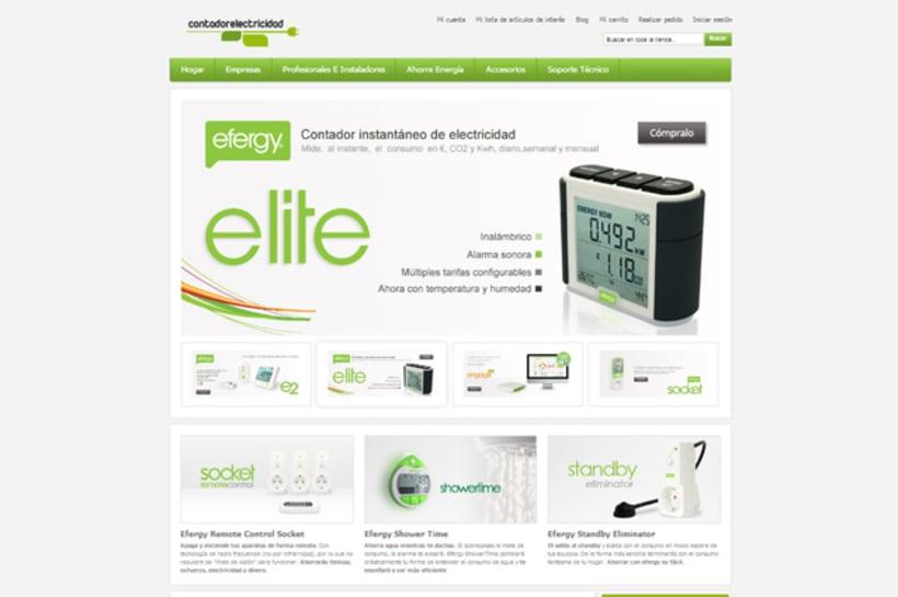 Publicidad, Imagen corporativa, posicionamiento, desarrollo tiendas virtuales Efergy Store (Enovae Medioambiente) 4