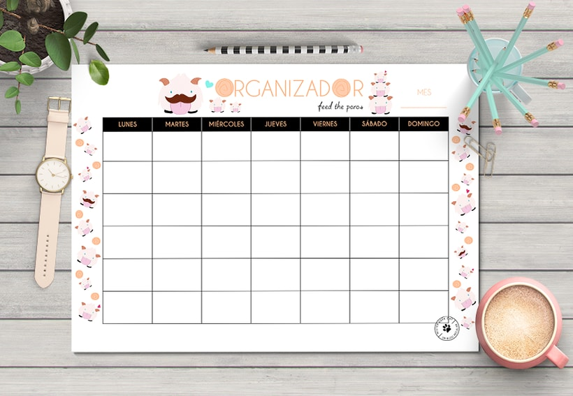 Planificador mensual  -1