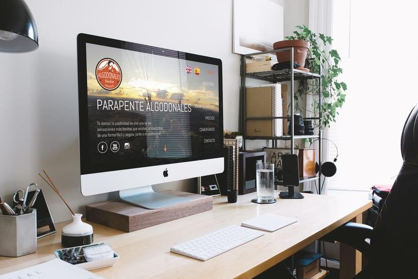 Diseño web para empresa de parapente | Domestika
