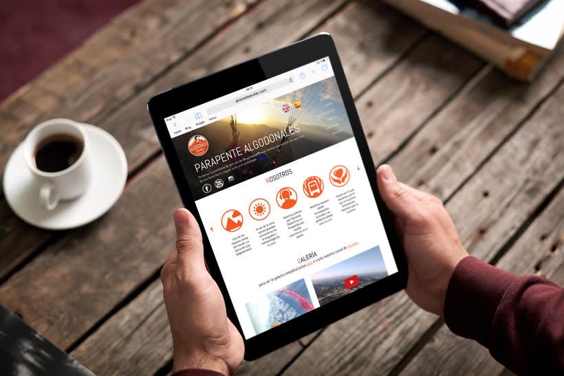 Diseño web para empresa de parapente 2