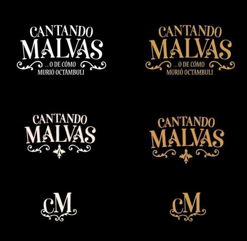Cantando MALVAS. Logotipo y cartel -1