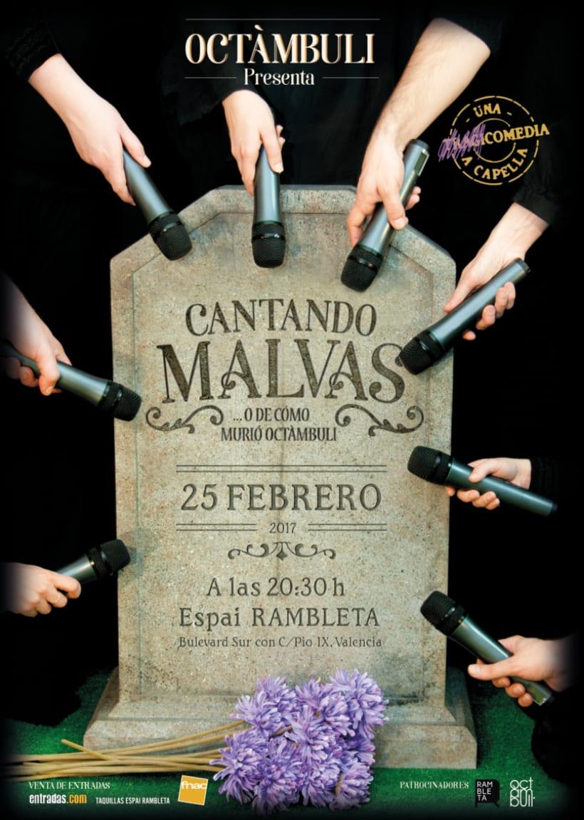 Cantando MALVAS. Logotipo y cartel 0