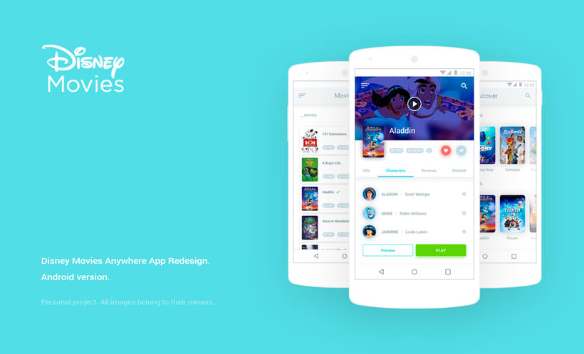 Disney Movies Anywhere - Mobile App Redesign -1