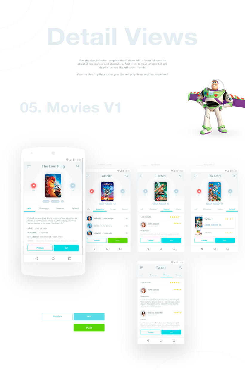 Disney Movies Anywhere - Mobile App Redesign 3