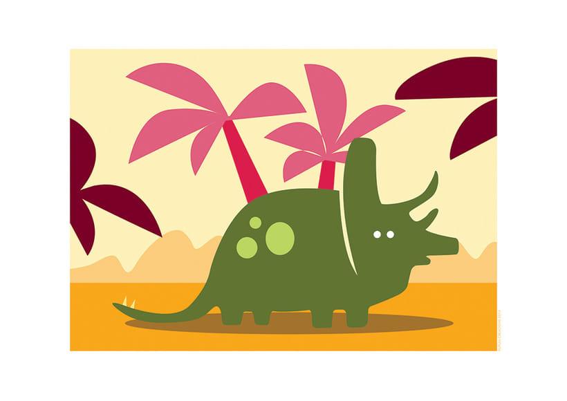 Ilustraciones dinosaurios infantiles para vinilos -1