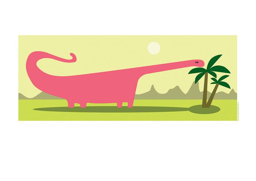 Ilustraciones dinosaurios infantiles para vinilos 1