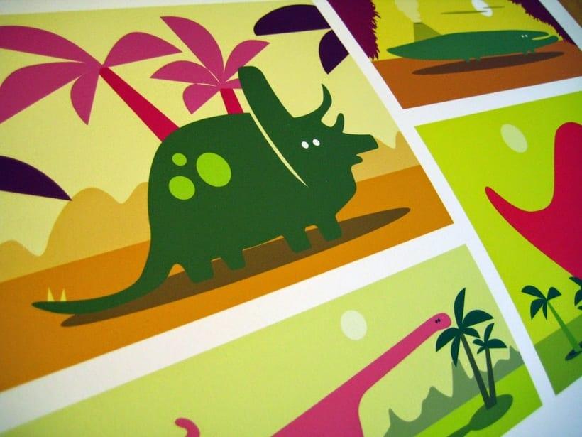 Ilustraciones dinosaurios infantiles para vinilos 2
