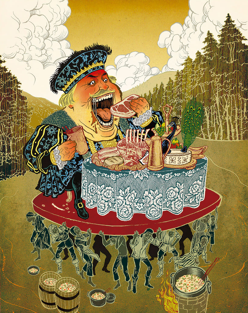 Acuarela, tinta china y digital en las ilustraciones de Jilipollo 1