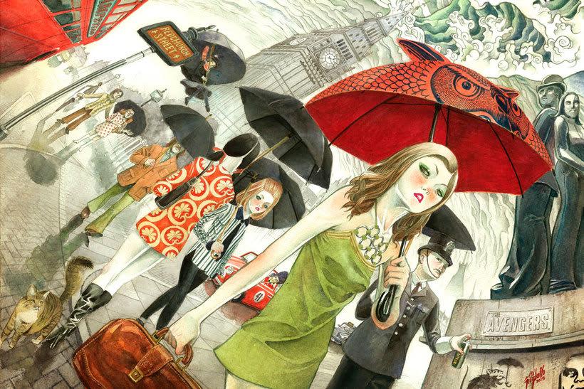 Acuarela, tinta china y digital en las ilustraciones de Jilipollo 6