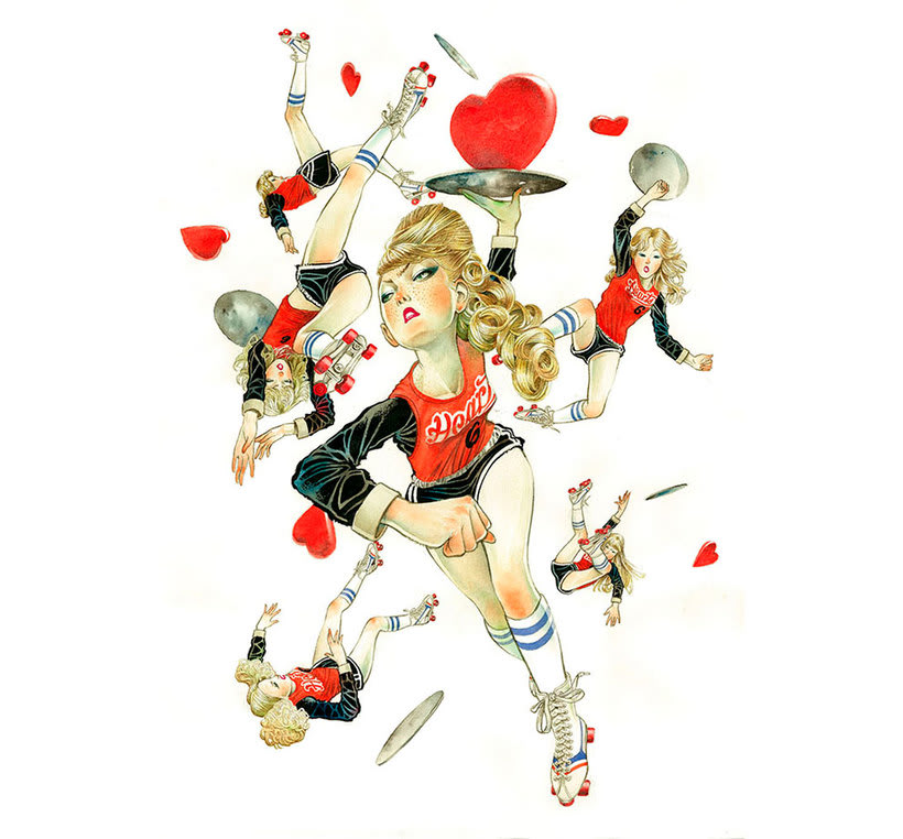 Acuarela, tinta china y digital en las ilustraciones de Jilipollo 8