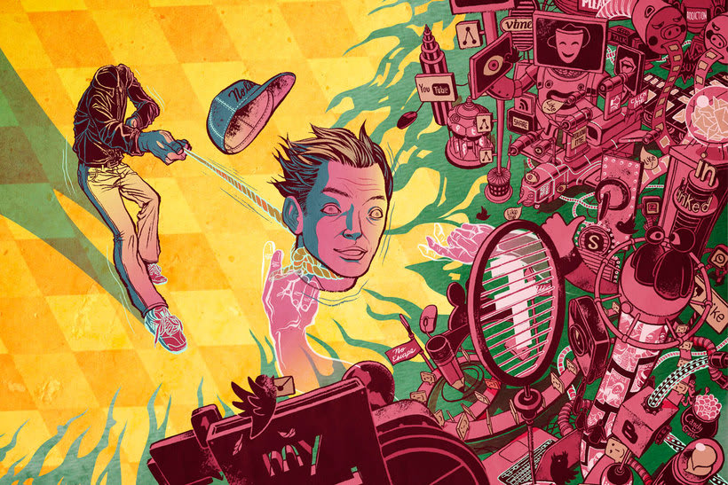 Acuarela, tinta china y digital en las ilustraciones de Jilipollo 11