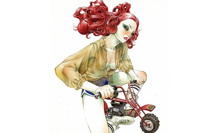 Acuarela, tinta china y digital en las ilustraciones de Jilipollo 12