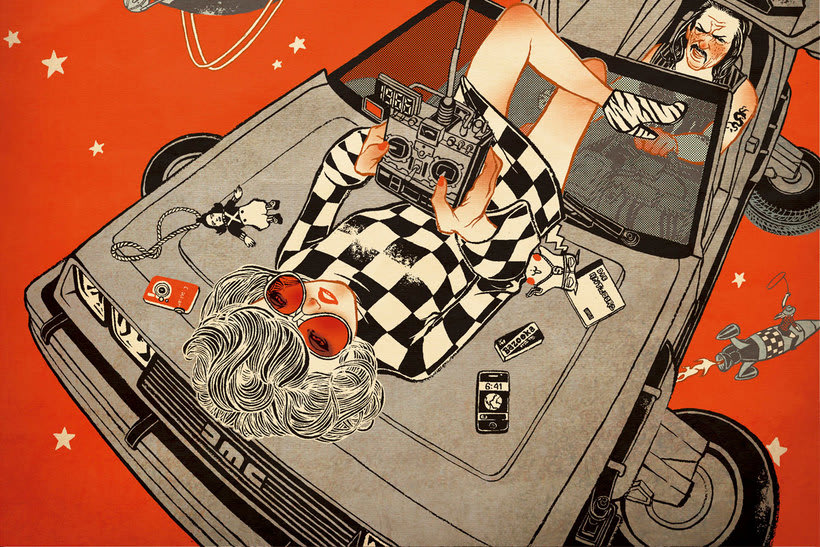 Acuarela, tinta china y digital en las ilustraciones de Jilipollo 15
