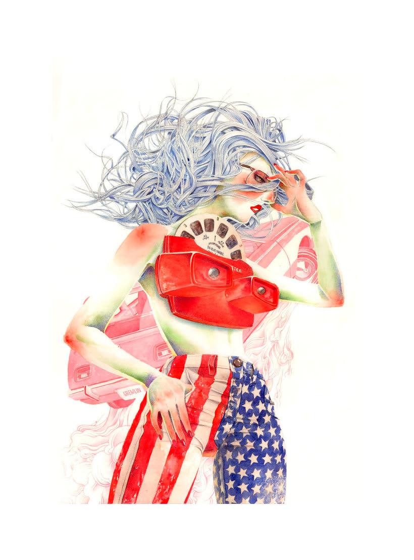 Acuarela, tinta china y digital en las ilustraciones de Jilipollo 16